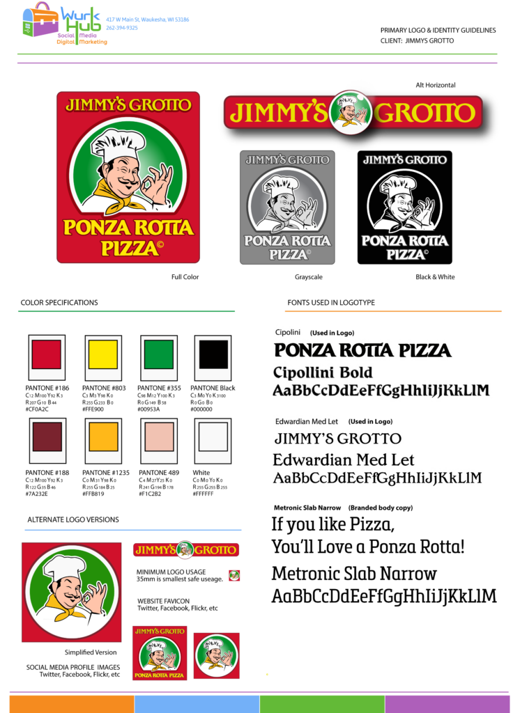 Jimmy's Grotto logo and style guide