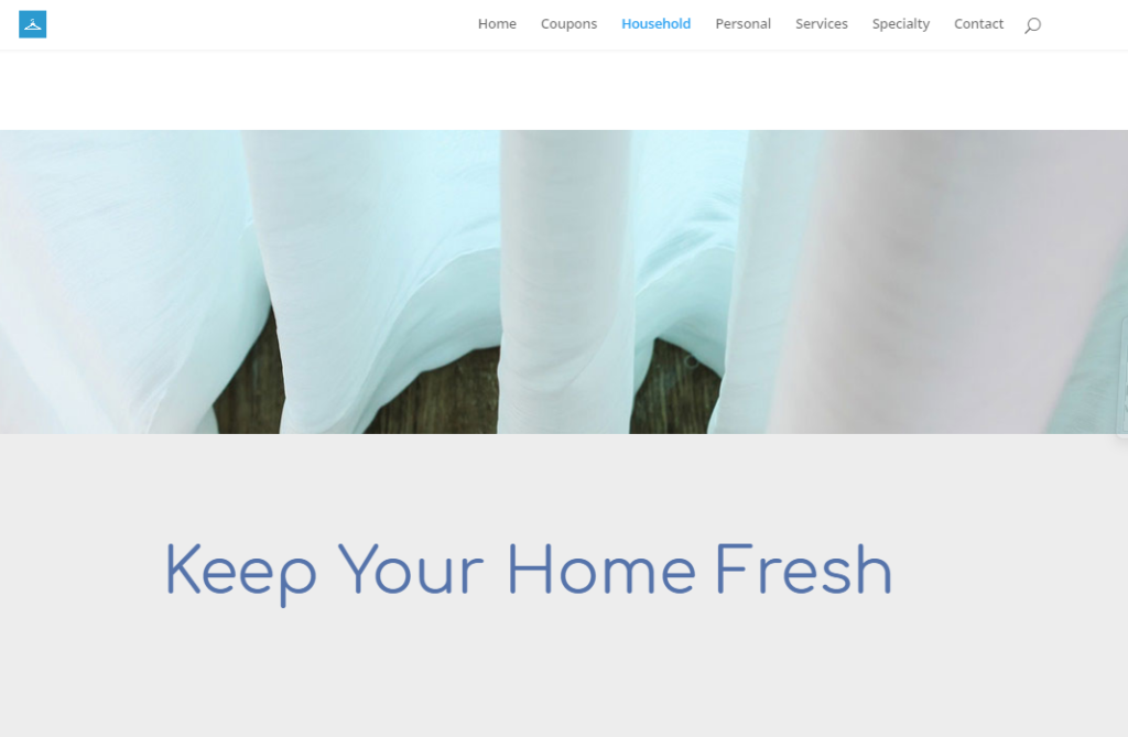 dry cleaner web design