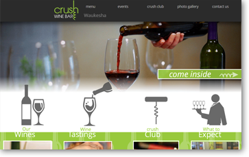 crush wine bar tasting downtown Waukesha