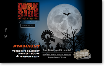 the darkside haunted house adventure wisconsin